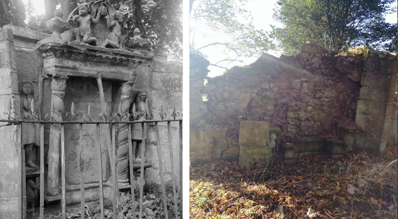 The image on the left (courtesy of RCAHMS) shows the monument in the 1930s. Taken this year, the image on the right shows the monument as it is now, badly eroded over time.